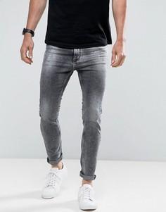 Джинсы скинни с эффектом брызг Calvin Klein Jeans - Черный