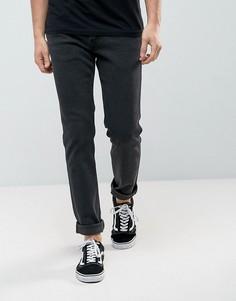 Черные выбеленные эластичные джинсы узкого кроя Levis Line 8 - Черный