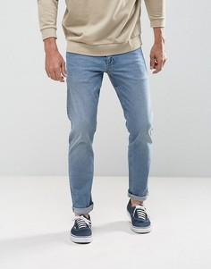 Голубые джинсы узкого кроя в винтажном стиле ASOS - Синий