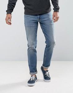 Синие джинсы узкого кроя в винтажном стиле ASOS - Синий