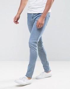 Выбеленные джинсы скинни Weekday - Синий