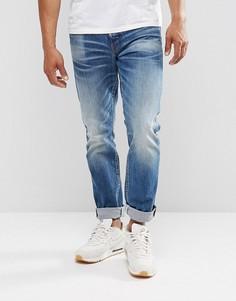Темные зауженные джинсы G-Star 3301 Higa - Синий