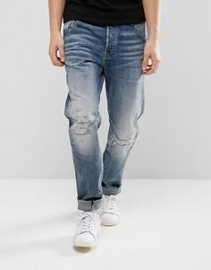 Суженные книзу выбеленные джинсы G-Star Arc 3D 156 - Синий