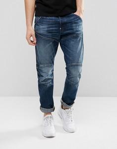 Суженные книзу темные джинсы G-Star 5620 3D - Темно-синий