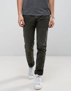 Эластичные узкие джинсы цвета хаки Replay Anbass - Зеленый