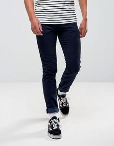 Темно-синие облегающие брюки ASOS - Темно-синий