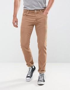 Светло-коричневые вельветовые брюки узкого кроя ASOS - Рыжий