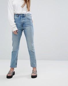Прямые джинсы с винтажном стиле Weekday - Синий