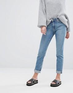 Прямые эластичные джинсы с классической талией Weekday Way - Синий