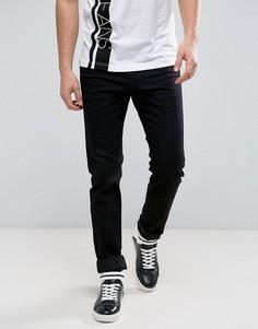Джинсы слим с логотипом Versace - Черный