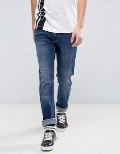 Джинсы слим с логотипом Versace - Синий
