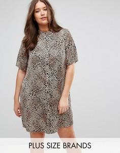 Платье-рубашка со звериным принтом Junarose - Мульти
