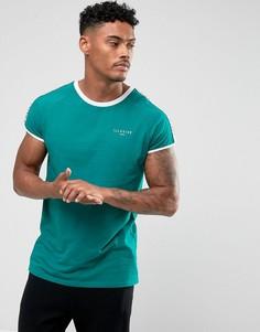 Сине-зеленая футболка с кантом Illusive London - Зеленый