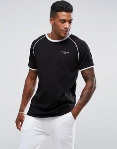 Черная футболка с окантовкой Illusive London Poly - Черный