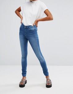 Облегающие джинсы с классической талией Waven Asa - Синий