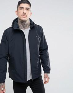 Черная нейлоновая куртка на молнии с капюшоном Farah Newbern - Черный