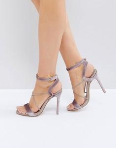 Босоножки на каблуке с ремешками Faith Dana - Бежевый