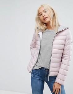 Легкая дутая куртка с капюшоном Esprit - Розовый