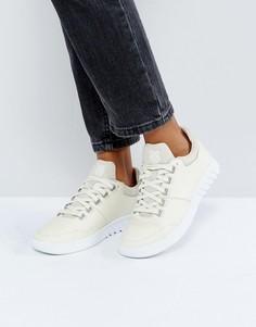 Кремовые кожаные кроссовки K-Swiss - Кремовый