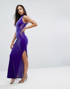 Платье с кружевными вставками Lipsy - Синий