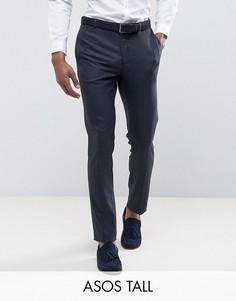 Синие фактурные брюки скинни ASOS TALL WEDDING - Синий
