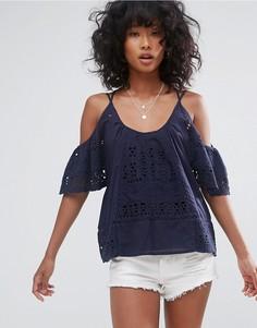 Блузка с открытыми плечами d.RA Culver City - Темно-синий