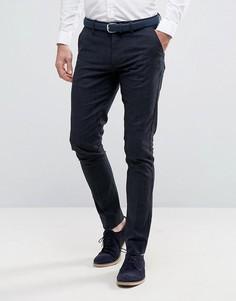 Зауженные брюки в строгом стиле Selected Homme - Темно-синий