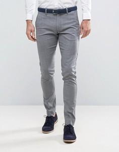 Зауженные брюки в строгом стиле Selected Homme - Серый