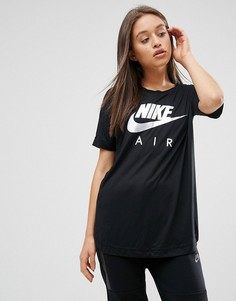 Длинная футболка с логотипом Nike Air - Черный