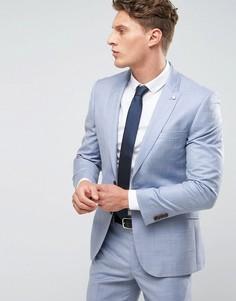 Голубой приталенный пиджак Burton Menswear - Синий