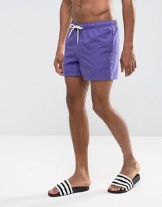 Фиолетовые короткие шорты для плавания ASOS - Красный