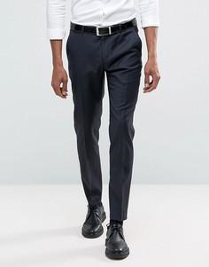 Зауженный костюм из 100% шерсти ASOS - Темно-синий