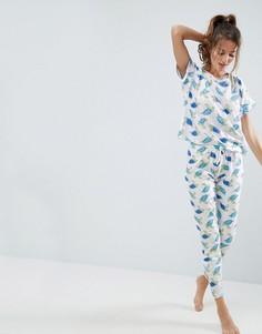 Пижамный комплект с футболкой и леггинсами с черепахами ASOS - Мульти
