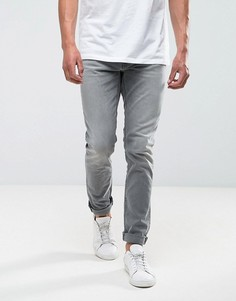 Серые выбеленные суженные книзу джинсы Nudie Jeans Co Lean Dean - Серый