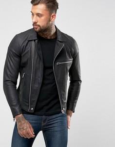 Кожаная куртка Diesel L-Hater - Черный