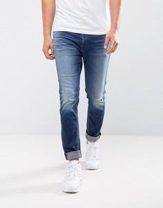 Джинсы скинни с заплатками Calvin Klein Jeans - Синий