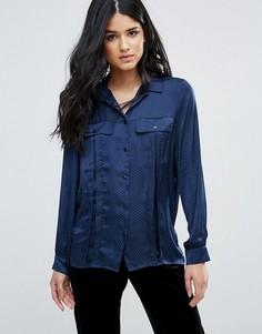 Сатиновая рубашка Minimum - Синий