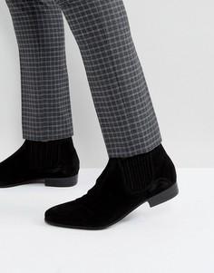 Черные замшевые ботинки челси Hudson London Zelus - Черный