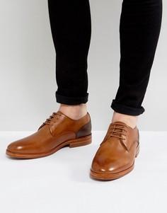 Светло-коричневые кожаные дерби Hudson London - Рыжий