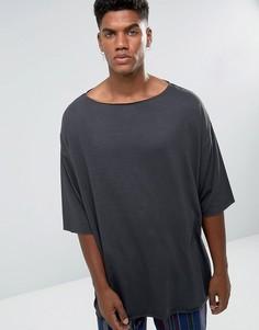 Черная облегающая футболка ASOS - Черный