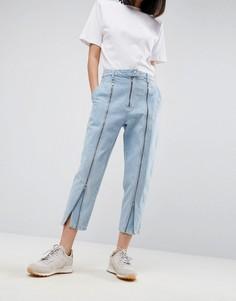 Выбеленные джинсы с молнией ASOS WHITE - Синий
