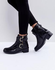 Кожаные байкерские ботинки Faith Betsy - Черный
