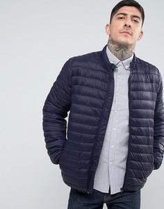 Темно-синяя стеганая куртка ASOS - Темно-синий