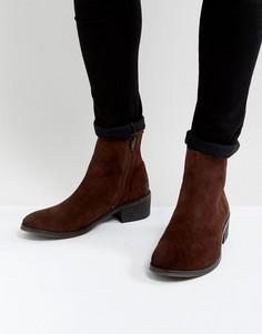Замшевые ботинки на каблуке Walk London Nial - Коричневый