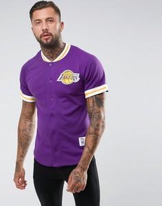 Сетчатая футболка Mitchell & Ness NBA L.A Lakers - Фиолетовый
