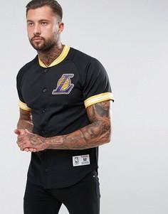Сетчатая футболка Mitchell & Ness NBA L.A Lakers - Черный