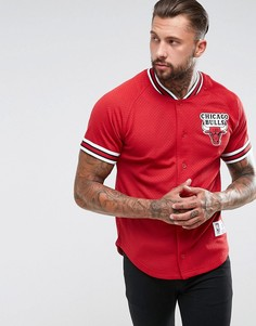 Сетчатая футболка Mitchell & Ness NBA Chicago Bulls - Красный
