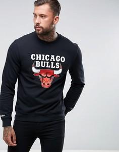 Свитшот с круглым вырезом Mitchell & Ness NBA Chicago Bulls - Черный