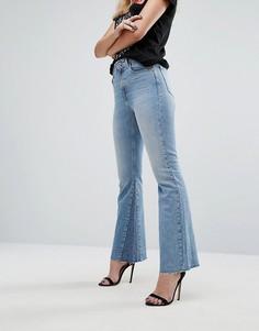 Укороченные расклешенные джинсы Replay - Синий