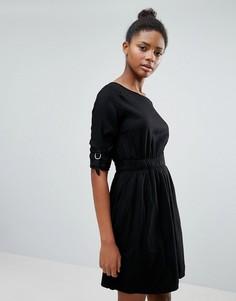 Платье с присборенной талией Vila - Черный